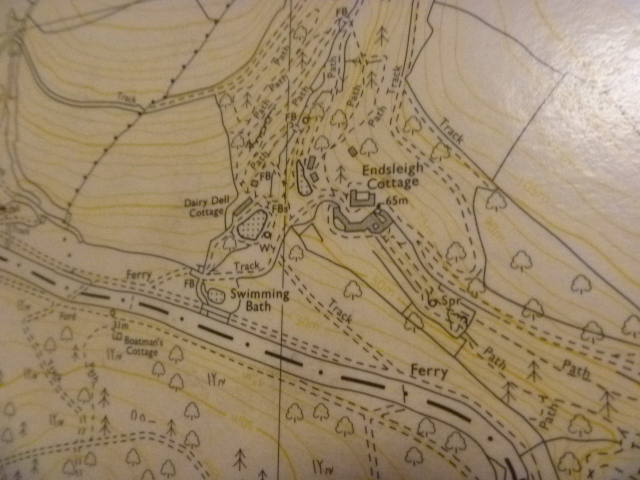 Endsleigh map close-up