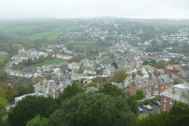 Launceston from battlements