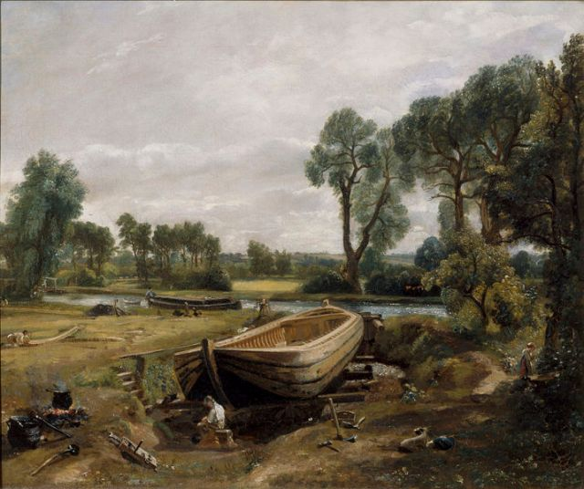 Boat Building at Flatford