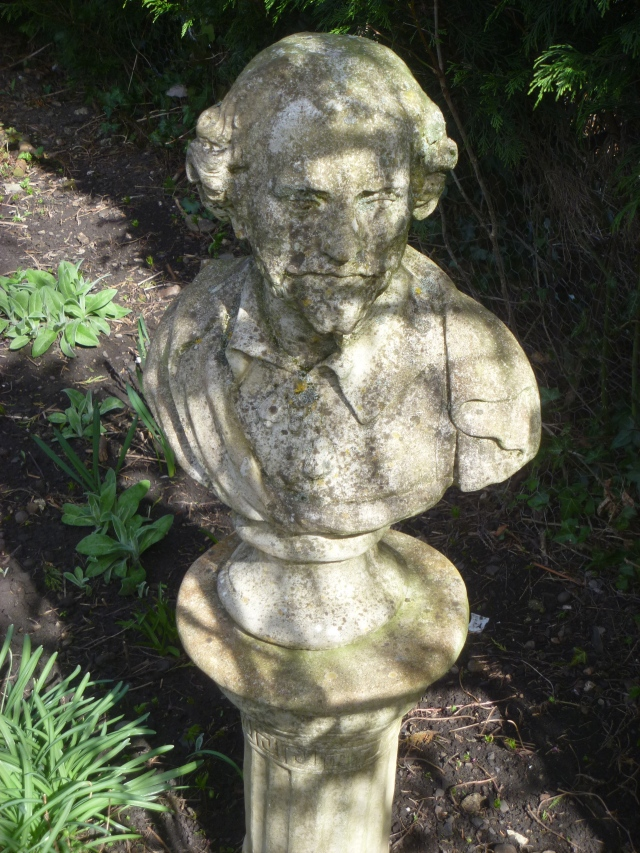 Shakespeare in his garden