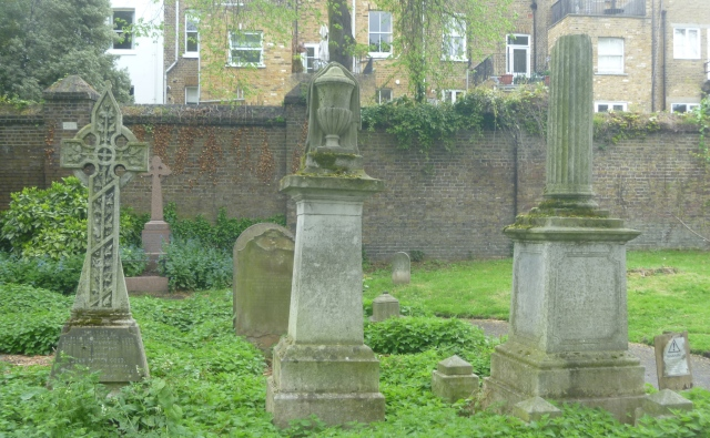 Typical Victorian headstones