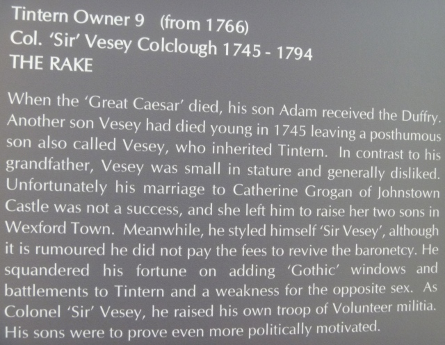About Sir Vesey