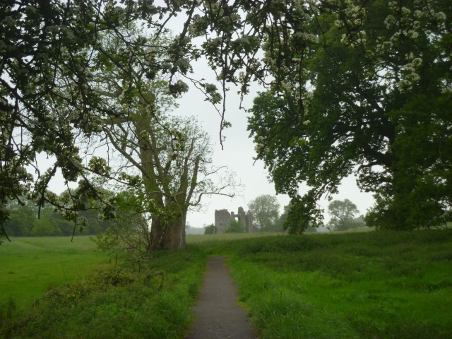 approaching the old castle