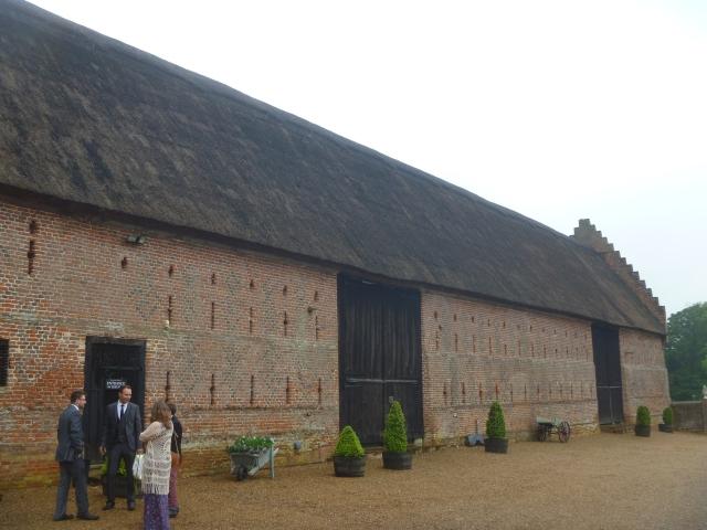 The barn outside