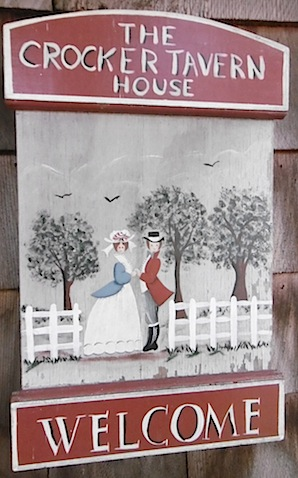 Crocker Tavern House sign