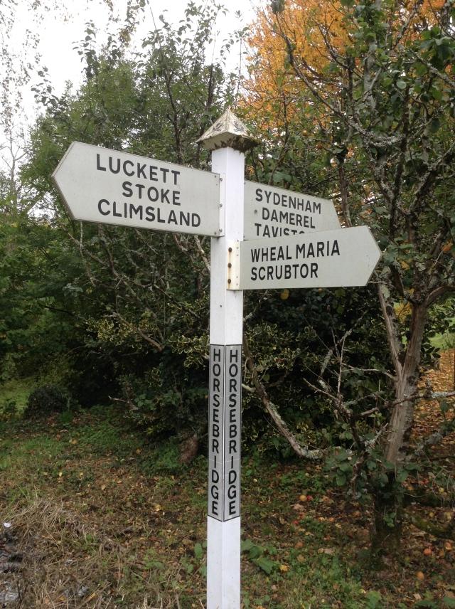 Devon signpost