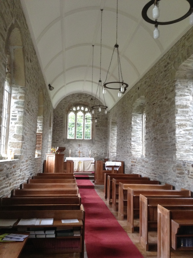 Inside Sydenham Damerel church