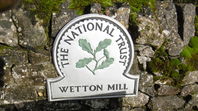 Wetton mill sign