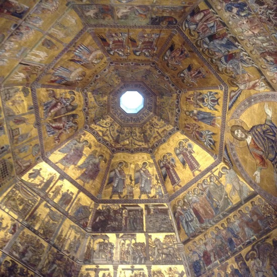 Baptistry ceiling