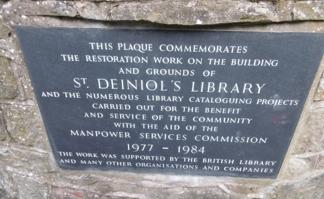 GL Library plaque