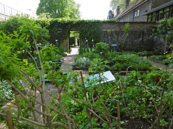 walled herb garden