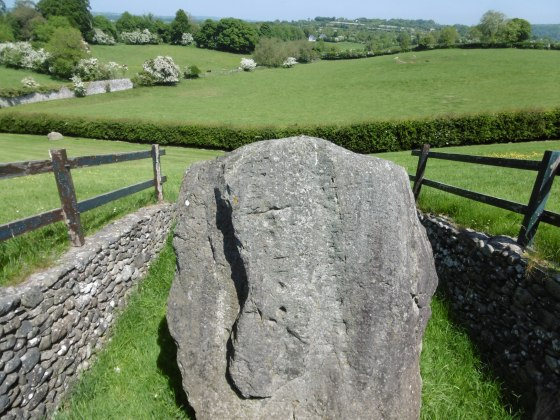 Kerbstone with Ogham