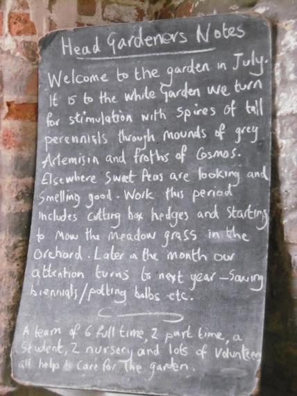 head gardener's notes