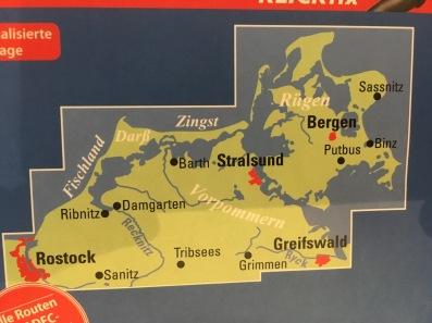 Rügen map