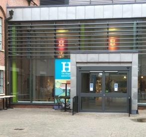 Higgins entrance